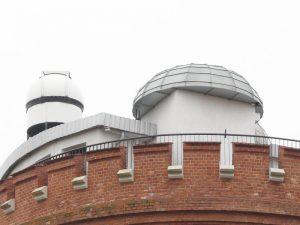 Widok na teleskop astronomiczny